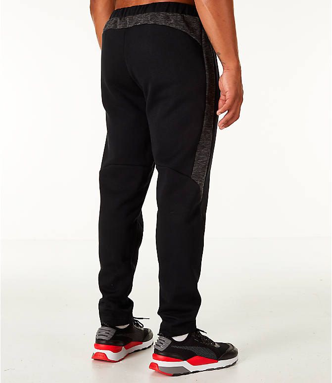 Back Right view of Men's Puma Evostripe Training Pants in Black/White
