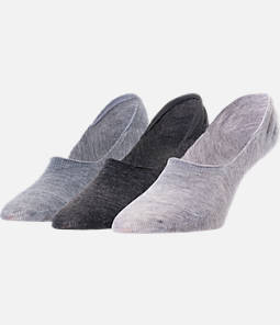 Women's Finish Line Raw Edge 3-Pack No-Show Socks