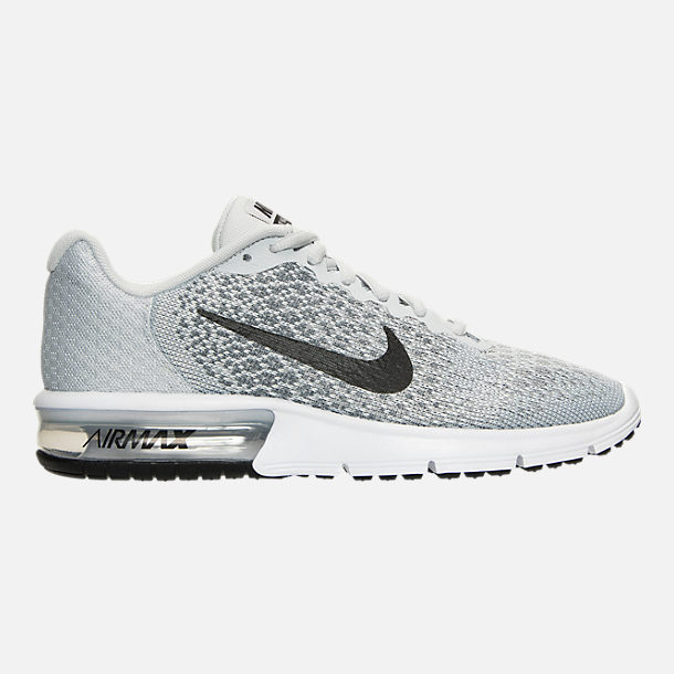 Right view of Women's Nike Air Max Sequent 2 Running Shoes in Pure Platinum/Black/Cool Grey