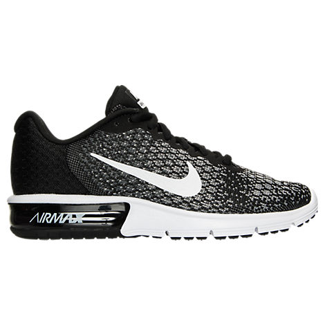 nike running air max fury trainers in black and white barbara