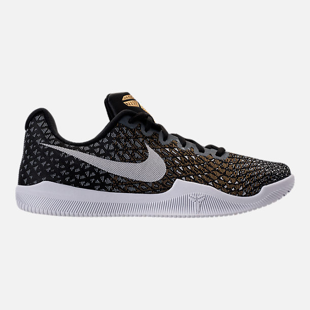 Right view of Men's Nike Kobe Mamba Instinct Basketball Shoes in  Black/White/Wolf