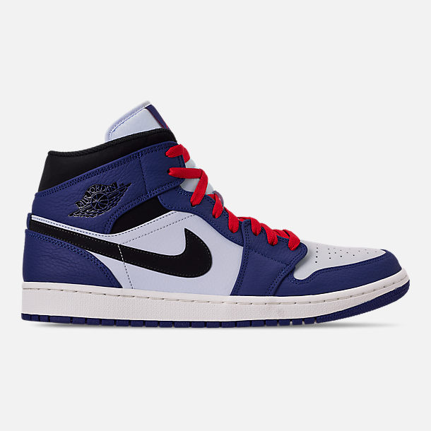 Men S Air Jordan Retro 1 Mid Premium Basketball Shoes Finish Line