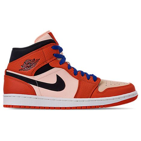 Nike Men S Air Jordan Retro 1 Mid Premium Basketball Shoes Red