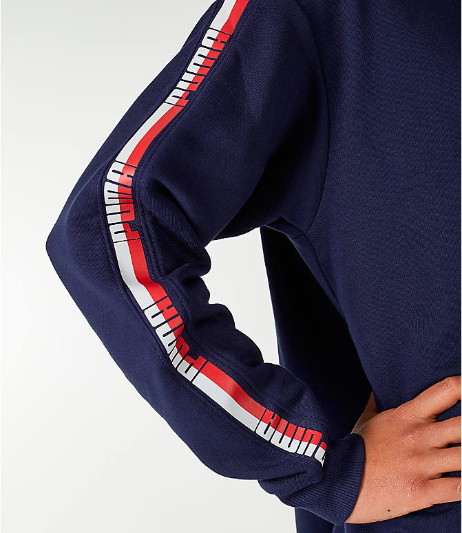 Detail 2 view of Women's Puma Tape Terry Dress in Navy/Red/White