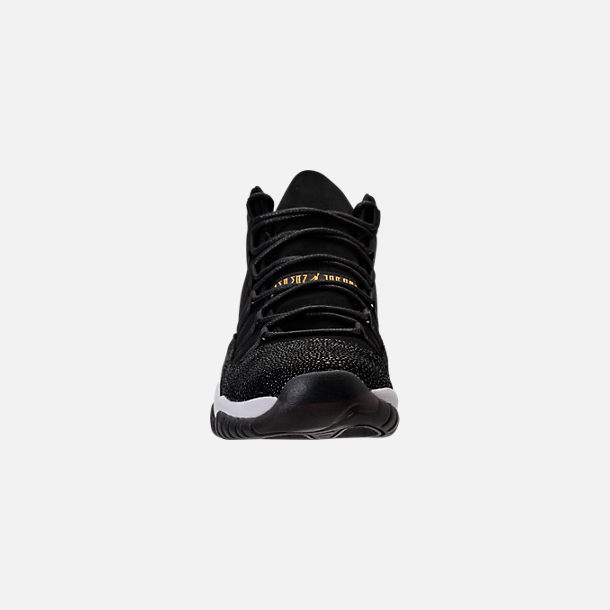 Front view of Girls' Big Kids' Air Jordan Retro 11 Premium Heiress Collection (3.5y - 9.5y) Basketball Shoes