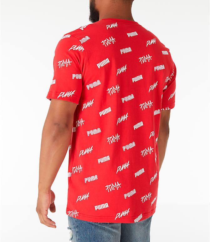 Back Left view of Men's Puma All Over T-Shirt