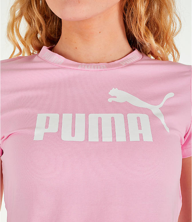 Detail 1 view of Women's Puma Amplified Cropped T-Shirt in Pale Pink
