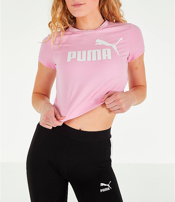 Detail 2 view of Women's Puma Amplified Cropped T-Shirt in Pale Pink