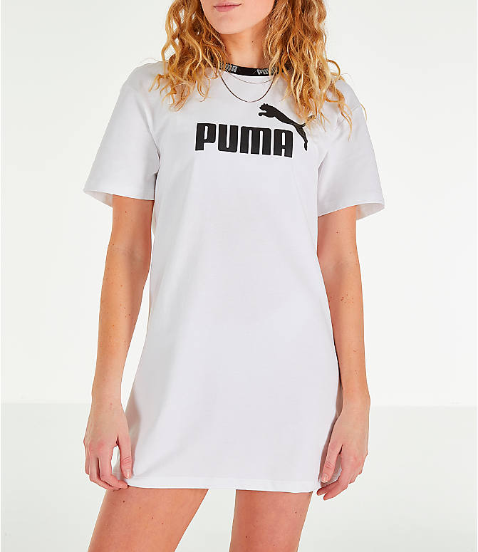 Front view of Women's Puma Amplified Dress in White