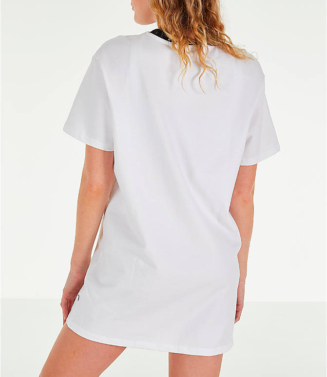 Back Left view of Women's Puma Amplified Dress in White