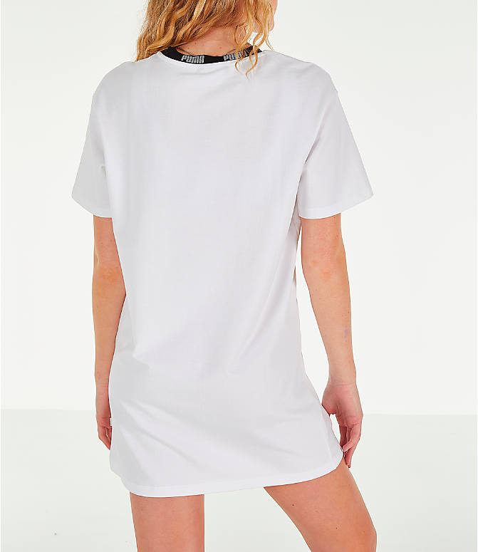 Back Right view of Women's Puma Amplified Dress in White