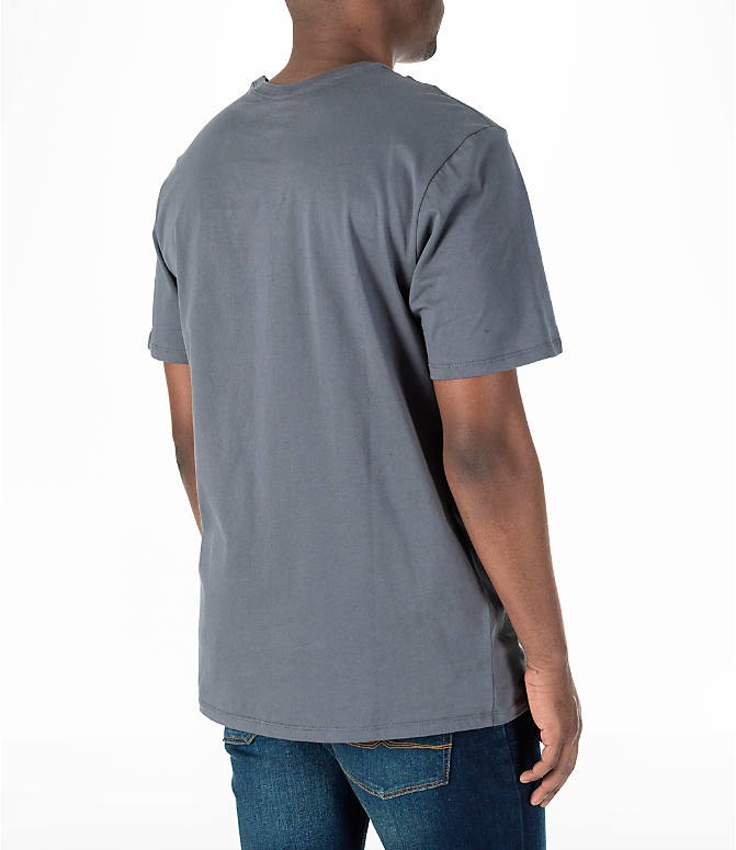 Back Right view of Men's Nike Air Logo T-Shirt in Grey