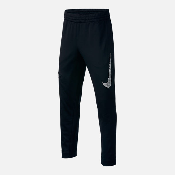 Front view of Boys' Nike Therma Basketball Pants in Black