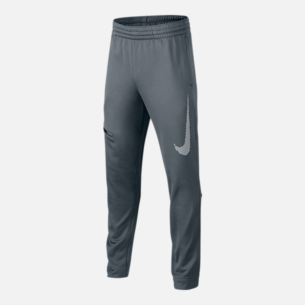 Front view of Boys' Nike Therma Basketball Pants in Grey