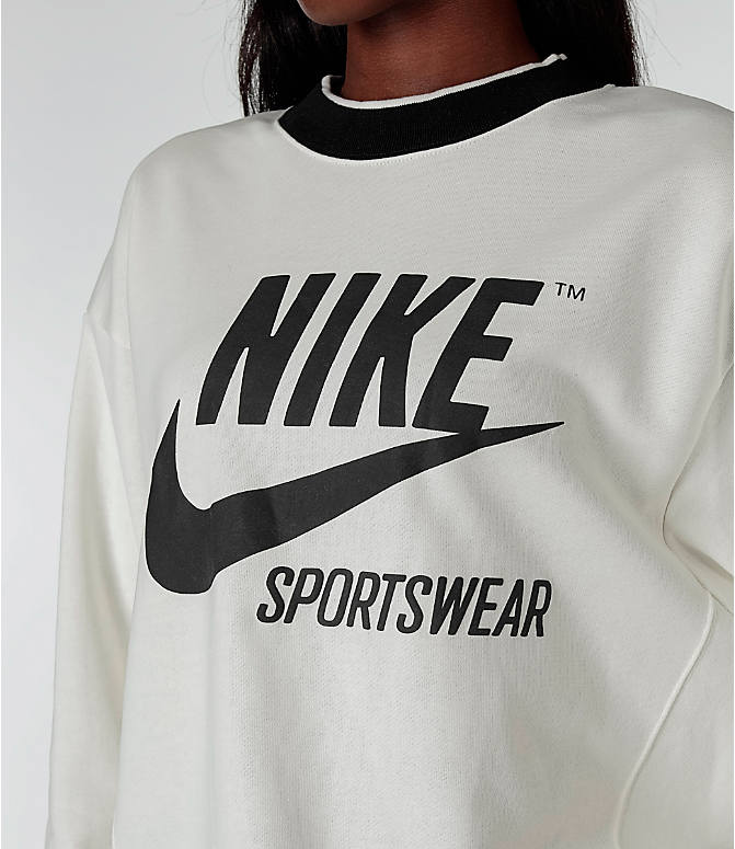Detail 1 view of Women's Nike Sportswear Archive Crew Sweatshirt in Sail