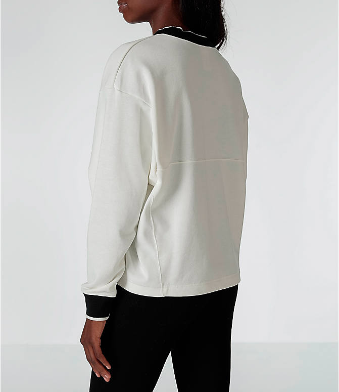 Back Left view of Women's Nike Sportswear Archive Crew Sweatshirt in Sail