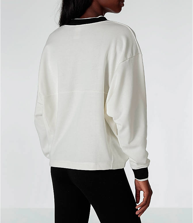 Back Right view of Women's Nike Sportswear Archive Crew Sweatshirt in Sail