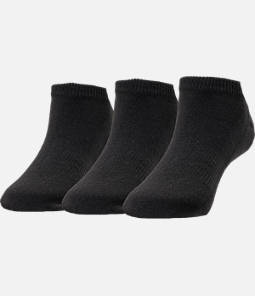 Kids' Finish Line 3-Pack No Show Socks