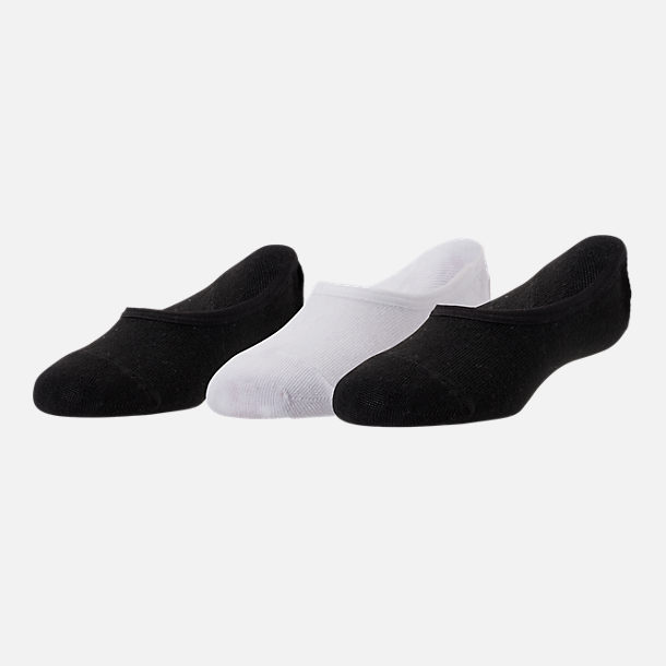 Front view of Kids' Sof Sole 3-Pack Footie Socks in Black/White