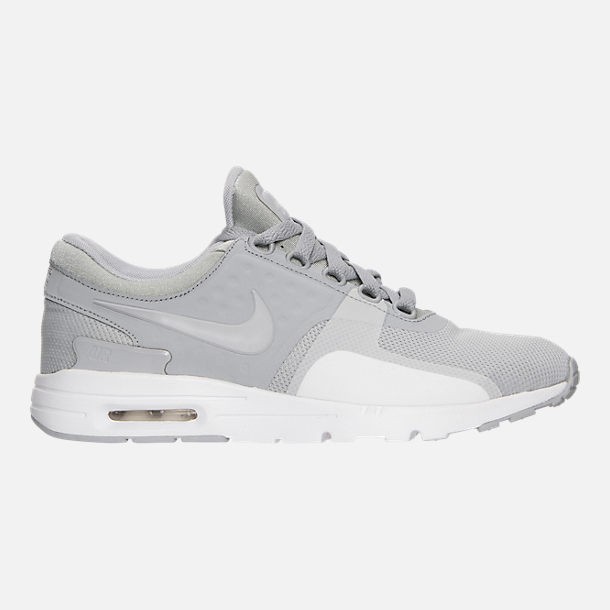 Right view of Women's Nike Air Max Zero Running Shoes in Wolf Grey/White