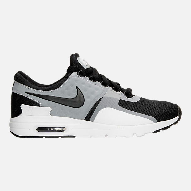 Right view of Women's Nike Air Max Zero Running Shoes in White/Black