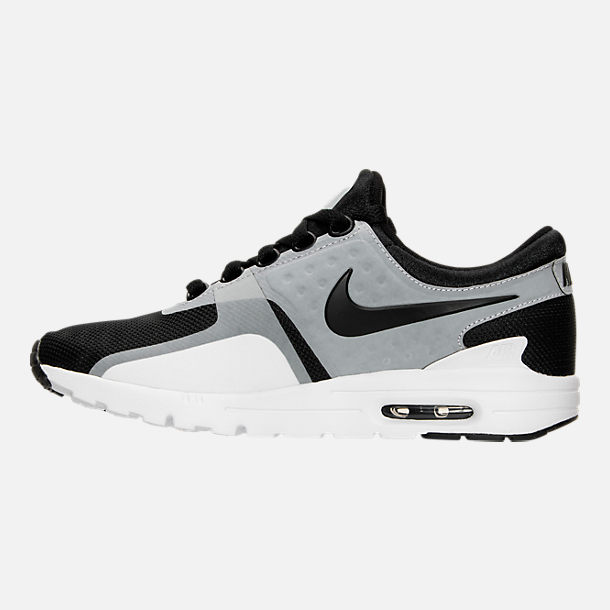 Left view of Women's Nike Air Max Zero Running Shoes in White/Black