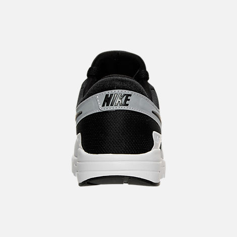 Back view of Women's Nike Air Max Zero Running Shoes in White/Black