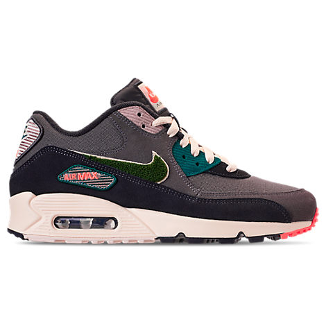 Men's Air Max 90 Premium Se Casual Sneakers From Finish Line in Grey