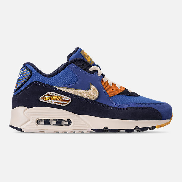 timeless design c08d6 05213 Right view of Mens Nike Air Max 90 Premium SE Casual Shoes in Game Royal