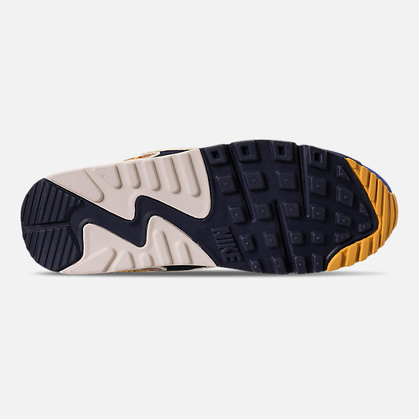 Bottom view of Men s Nike Air Max 90 Premium SE Casual Shoes in Game Royal  90a2e849e