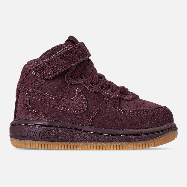 Right view of Boys' Toddler Nike Air Force 1 Mid LV8 Casual Shoes