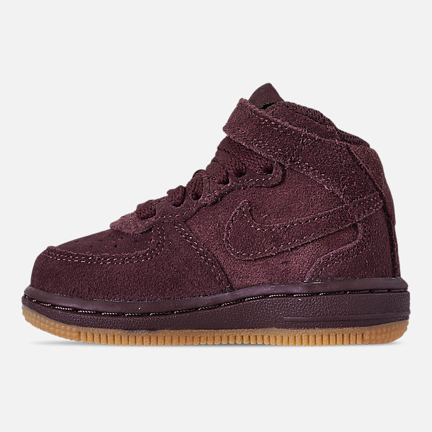 Left view of Boys' Toddler Nike Air Force 1 Mid LV8 Casual Shoes