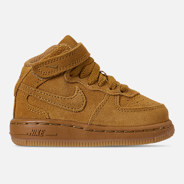 Right view of Boys  Toddler Nike Air Force 1 Mid LV8 Casual Shoes in Wheat fbf6403a01ae