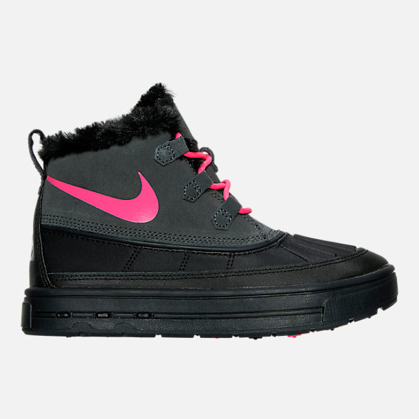 Right view of Girls' Grade School Nike Woodside Chukka 2 Boots in Anthracite/Hyper Pink/Black