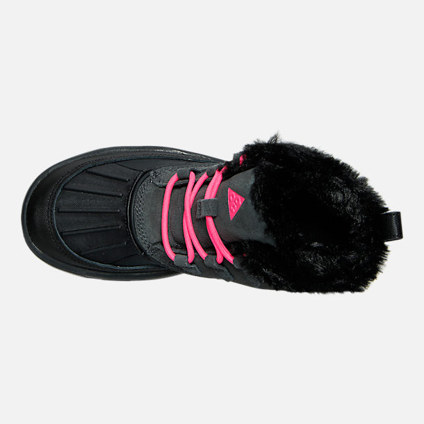 Top view of Girls' Grade School Nike Woodside Chukka 2 Boots in Anthracite/Hyper Pink/Black