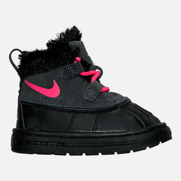 Right view of Girls' Toddler Nike Woodside Chukka 2 Boots in Anthracite/Hyper Pink/Black
