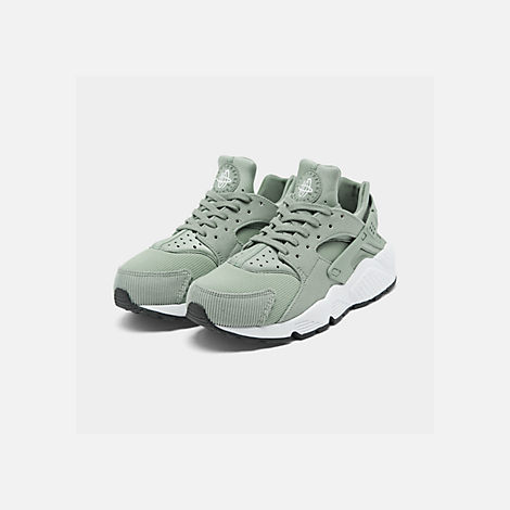 de50fc5f7b8a Three Quarter view of Women s Nike Air Huarache Run SE Casual Shoes in Mica  Green