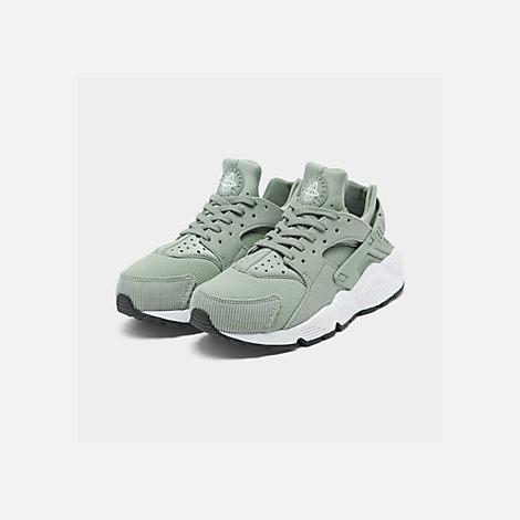 70f22810f87f Three Quarter view of Women s Nike Air Huarache Run SE Casual Shoes in Mica  Green