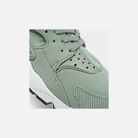 26f8b0105a48 Front view of Women s Nike Air Huarache Run SE Casual Shoes in Mica Green  Black