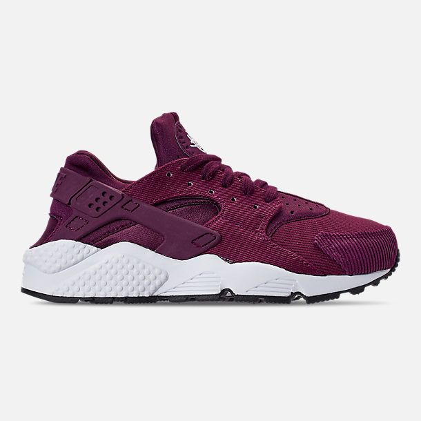 Right view of Women's Nike Air Huarache Run SE Casual Shoes in Bordeaux/Black/White