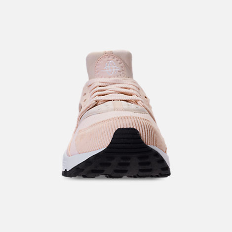 2280d873a9d019 Front view of Women s Nike Air Huarache Run SE Casual Shoes in Guava Ice  Black
