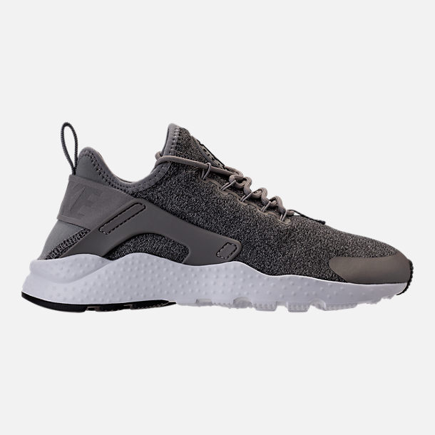 Right view of Women's Nike Air Huarache Run Ultra Casual Shoes in Dust/Metallic Pewter/Black/White