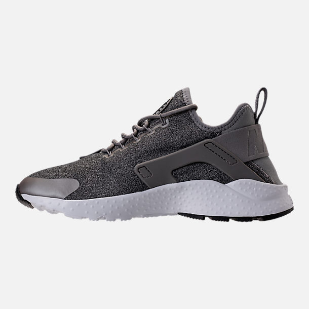 Left view of Women's Nike Air Huarache Run Ultra Casual Shoes in Dust/Metallic Pewter/Black/White