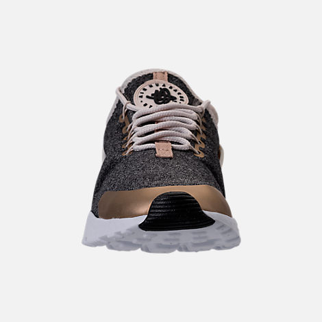 Front view of Women's Nike Air Huarache Run Ultra Casual Shoes in Light Orewood Brown/Blur