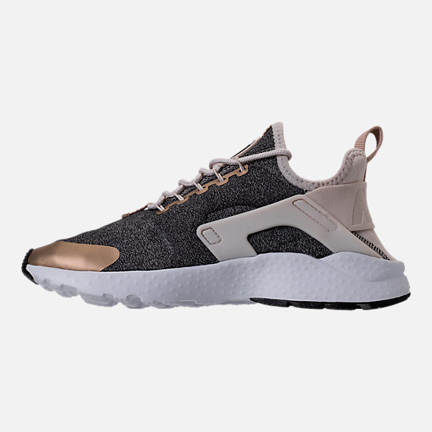 Left view of Women's Nike Air Huarache Run Ultra Casual Shoes in Light Orewood Brown/Blur