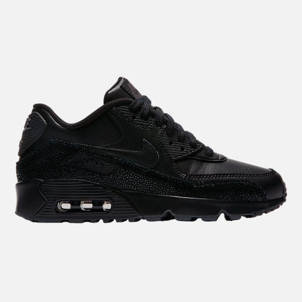 Nike Air Max 90 SE Leather - Boy Sneakers - Black/Grey