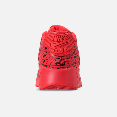 Back view of Boys' Grade School Nike Air Max 90 SE Leather Running Shoes