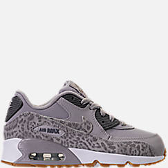 Girls' Preschool Nike Air Max 90 SE Leather Running Shoes