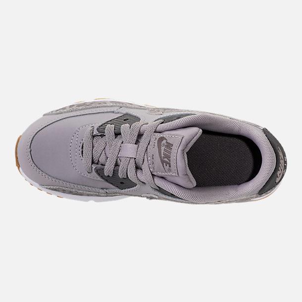 girls' preschool nike air max 90 se mesh running shoes