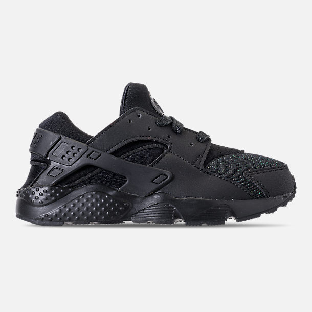 f57f4c98f6a6 Right view of Girls  Little Kids  Nike Huarache Run SE Casual Shoes in Black